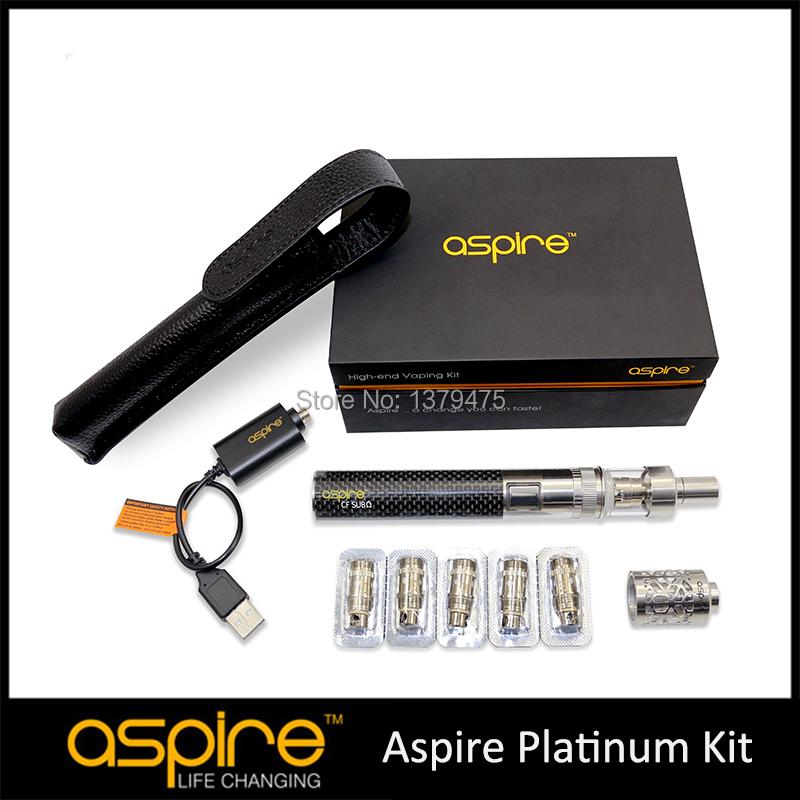 Presale Aspire E Cigarette Kit 100% Authentic Aspire Platinum Kit 2ML Atlantis Glass Atomizer Vaporizer BVC CF Sub oHm Battery<br><br>Aliexpress