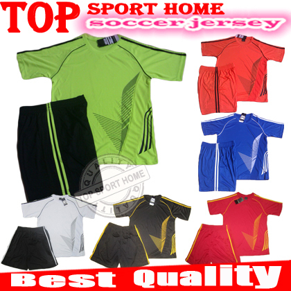 NEW A+++ quality Brand Adult Football clothes Soccer Jersey football training suit young men short sleeve jersey soccer clothing(China (Mainland))