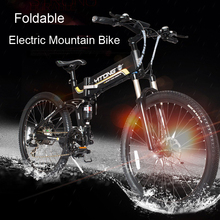 250W Motor Mini Foldable Aluminum 36V 10.4AH Lithium Battery Electric MTB Mountain Bike Bicycle for Adults Max Speed 25km(China (Mainland))