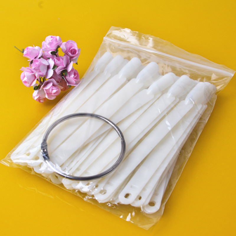 Hot Sell 50x Fan-shaped Natural False Nail Art Tools Tips Sticks Polish Display
