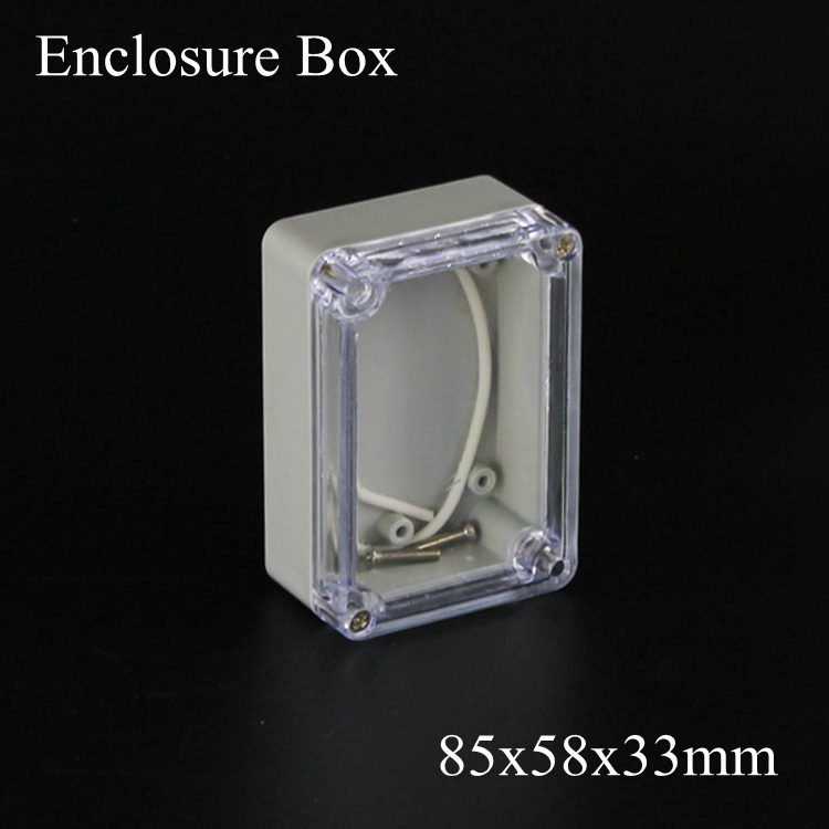 83x58x33mm 1 Piece Small Type IP66 ABS Grey Waterproof waterproof plastic enclosure box with transparent Clear cover 83*58*33mm(China (Mainland))