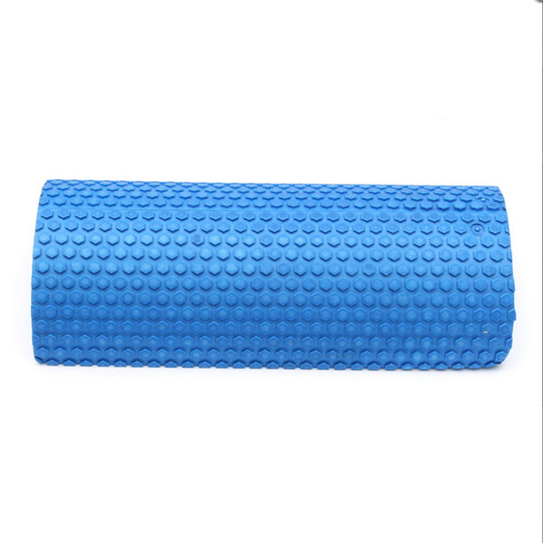 Hot selling Blue Yoga Blocks EVA foam Yoga roller Pilates Fitness Half Round Foam Roller With Massage Floating Point 30cm(China (Mainland))
