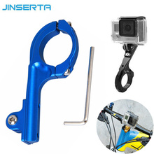 Buy CNC Aluminum Bicycle Holder Bike Handlebar Clamp Clip Mount Adapter xioami yi 4K xiaoyi 2 Gopro Hero 4 3 3+ 2 SJCAM for $2.89 in AliExpress store