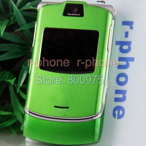 Refurbished Motorola RAZR V3 Mobile Phone 2G GSM Unlocked BEST Quality & One year warranty & 13 colors(China (Mainland))