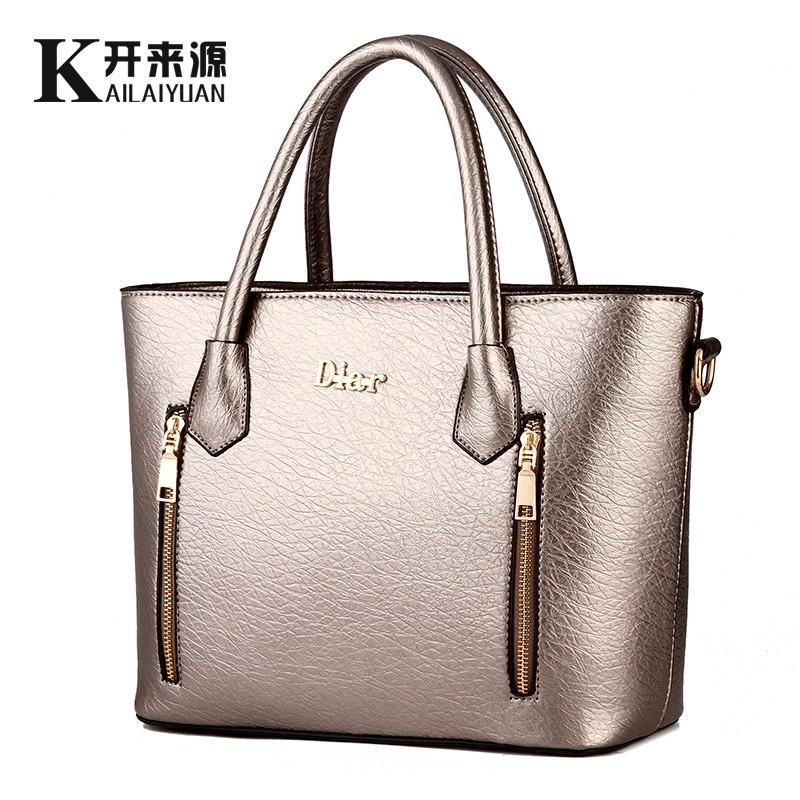 KLY 100% Genuine leather Women handbags 2016 New handbag fashion handbag Crossbody temperament type single shoulder bag(China (Mainland))