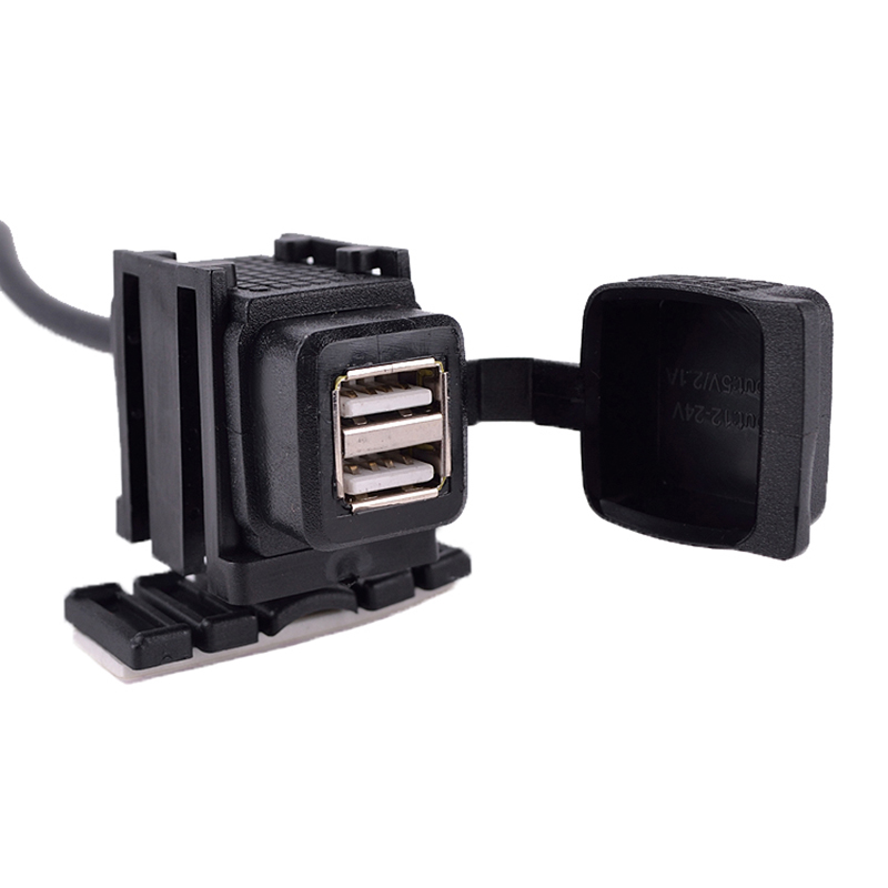 Waterproof Dual USB Motorcycle Car Socket Charger for Phones for GPS(China (Mainland))