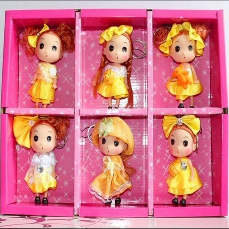 12CM New toy! Cute Confused Doll Mobile Phone Pendant, Fashion Dolls (6-color Hybrid Delivery!)(China (Mainland))