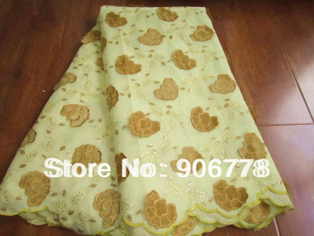 FREE SHIPPING swiss voile lace with velet for occasion beige color with velvet flower Guaranteed quality for usa market