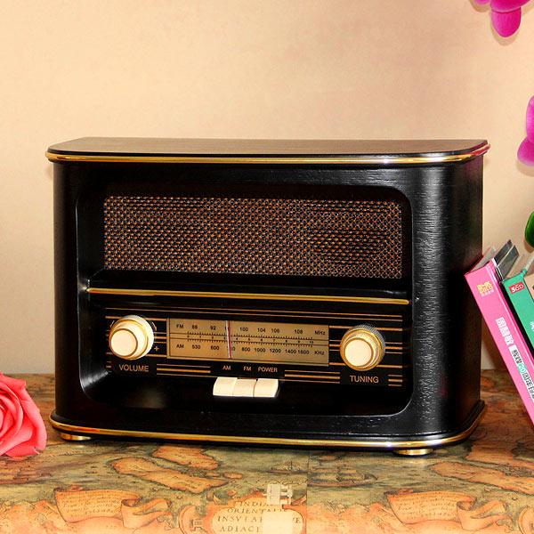 Antique vintage old fashioned wool fm radio old man gift the elderly full desktop fm