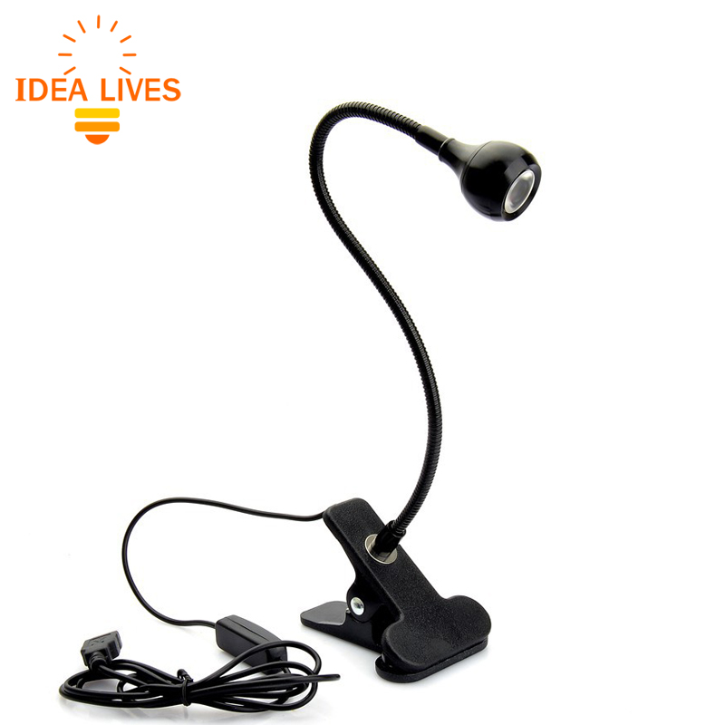 LED Desk Lamp with Clip 1W Flexible LED Reading Lamp USB Power Supply LED Book Lamp.(China (Mainland))