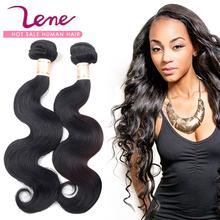LENE Brazilian virgin hair body wave Unprocessed brazilian remy hair bundles deal product 3 pcs cheap virgin human hair weave(China (Mainland))