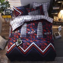 Bonenjoy Bedding Set Queen Size Green Leaf Bed Linen Sets Double Bed Cover Bed Sheet Pillowcase Bedclothes Single Bed Set(China)