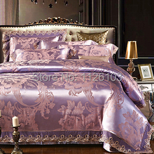 S&V Modern Luxury bedding sets designer bed in a bag linen lace duvet covers king size bedclothes cotton sheets Christmas 4pcs.(China (Mainland))