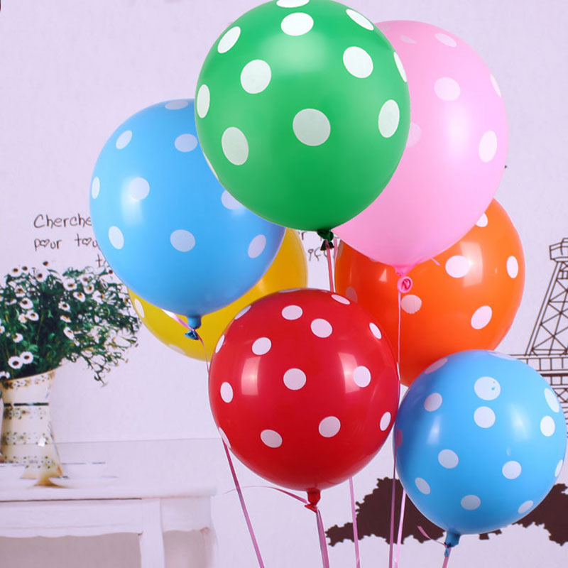 Party Balloon 25PCs 12inch Latex Balloons Dots Balloons Birthday Party Wedding Decoration Celebration Supplies Birthday Balloons(China (Mainland))