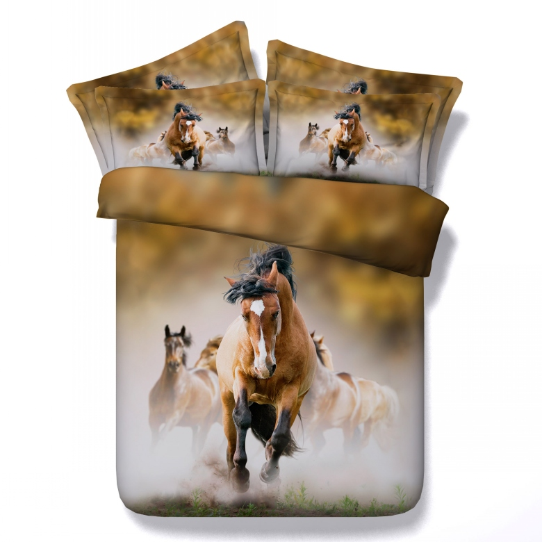 All kinds of horse 3D Bedding Sets 4/5pcs modal Comforter Sets Tiwn Full Queen King Size Duvet Cover Bed Sheet Pillowcases(China (Mainland))
