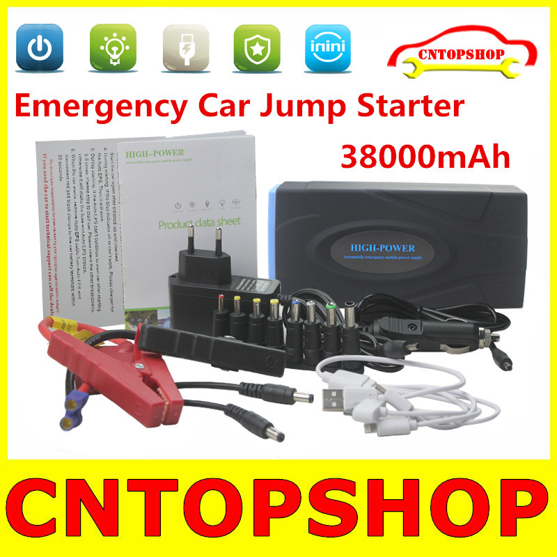 Factory Direct Price 38000mAh Car Starter Battery Auto EPS Car Jump Starter Support Gasoline / Diesel Cars 38000mah Power Bank(China (Mainland))