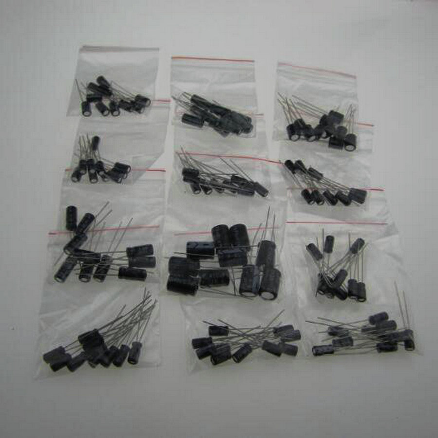 12valuesX10pcs=120pcs,0.22UF-470UF Aluminum electrolytic capacitors Assorted Kit , 30154 - 3C Top-rated Seller store