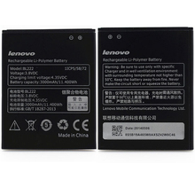 100% Original Mobile Phone Battery BL222 BL 222 Lenovo S660 S668T Replacement Batteries 3000mAh Best Quality - ShenZhen Future Technology Co.,LTD. store