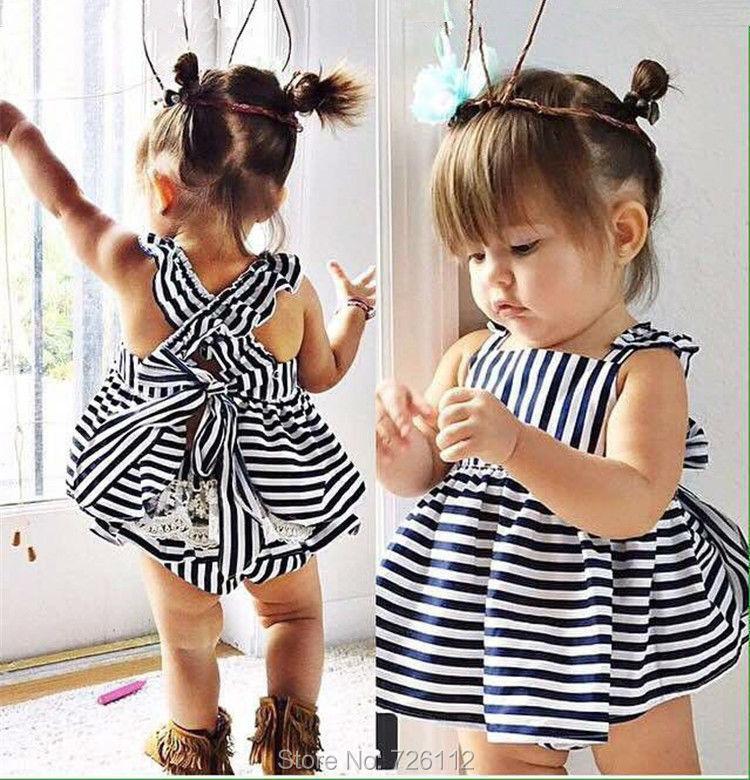 2018 Wholesale 2017 Summer Baby Girls Dress Briefs Suit Cute Baby