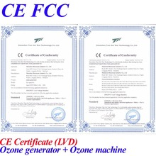 CE EMC LVD FCC ozone water treatment machine for drinking