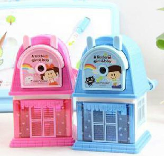 Free shipping/Cute House design machanical pencil sharpener/Girl and boy designs/kids gift/Good quality/Wholesale<br><br>Aliexpress