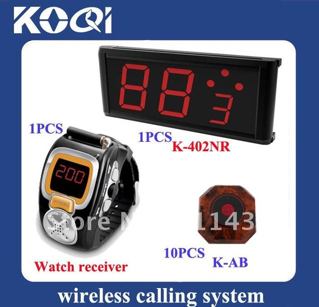 Top popular Wireless Table Waiter Service Call Calling Paging System ; Can show how many next coming calling