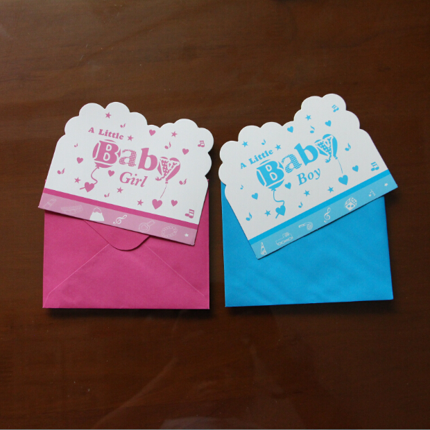 wholesale cards and envelopes little baby design invitation card for