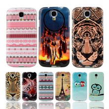 For Samsung Galaxy S4 Case Owl Tower Flag Soft TPU Silicone For Samsung S4 Case SIV I9500 Back Cover Cartoon Cell Phone Coque(China (Mainland))