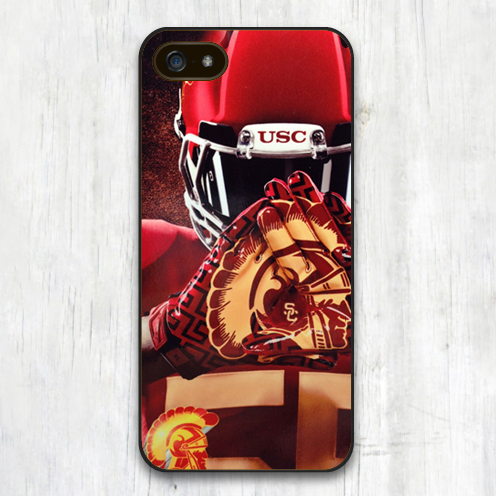 Usc Trojans College Football Printed Soft TPU Skin Mobile Phone Cases For iPhone 6 6S Plus 5 5S 5C 4 4S Back Cover Bags Shell(China (Mainland))