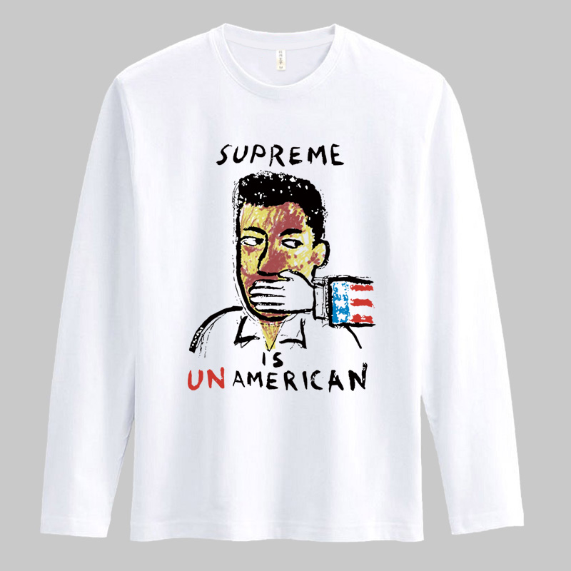 autumn house wear shut up cartoon Fashion superme plus size basketball sports male women's long sleeve T-shirt clothes 6XL 5XL 4(China (Mainland))