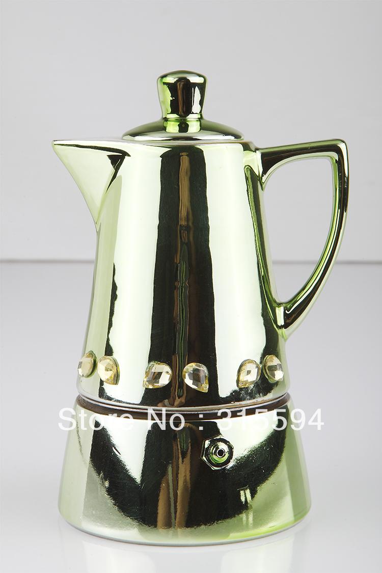 Ceramic Espresso Maker ~ High quality cup metalic porcelain espresso coffer maker