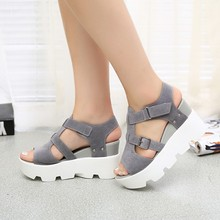 Roman style Wedges Sandals Casual Open Toe Summer Shoes Fashion Buckle Platform Thick Soled Shoes(China (Mainland))
