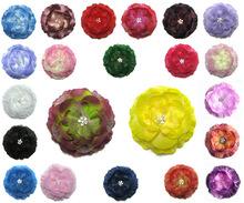 Shining Crystal Flower Hair Clips,Women Girls Head Flower Headwear Hair Accessories Party Gift