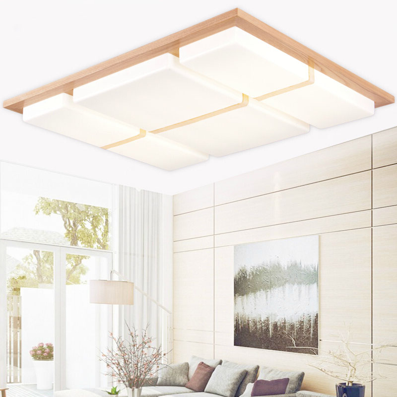 wood round oak modern led ceiling lights for living room bedroom lampara de techo ceiling lamp for home lighting<br><br>Aliexpress