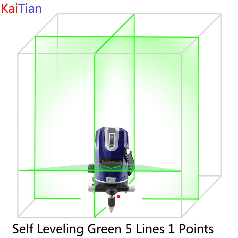 Rotary Laser Level Green 5 Lines 6 Points Cross Level Leveling with Tilt/Slash Function Receiver Detector EU Plug Lazer Level(China (Mainland))