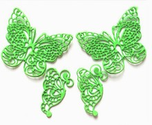 10pcs New Butterfly Silicone Fondant Mold Lace Wedding Cake Baking Decorating Tools Mould Party Kitchen Accessories