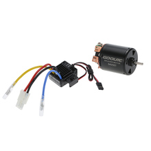 GoolRC 540 55T 4 Poles Brushed Motor and WP-1060-RTR 60A Waterproof Brushed ESC Speed Controller with 5V/2A BEC for 1/10 RC Car(China (Mainland))
