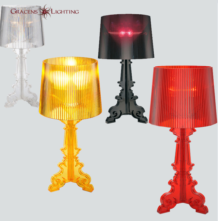 Acrylic Table Lamps Bedroom Bedside with Lampshades Modern LED Table Light D24 H51 cm(China (Mainland))