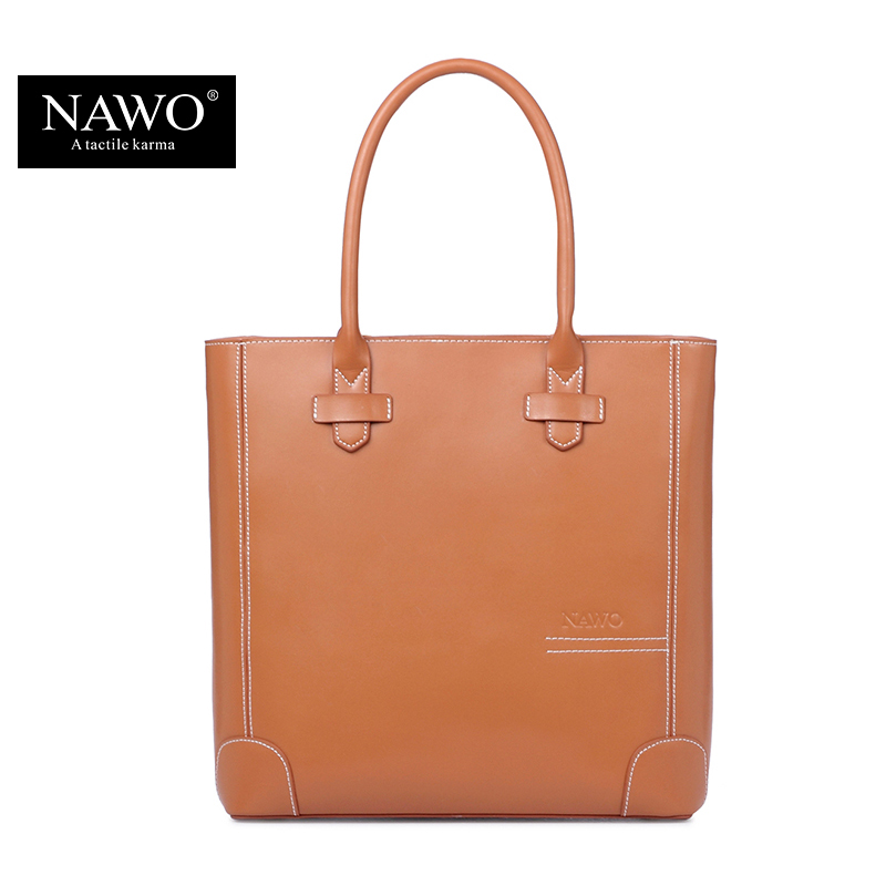 NAWO Leather Women Bag Shoulder Famous Designer Purses And Handbags 2016 High Quality Fashion Causal Tote Bags Female Sac A Main(China (Mainland))