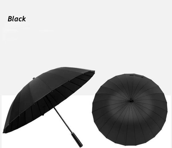 (10 pieces/lot) New long-handle solid color pongee canopy huge double umbrellas Business umbrella(China (Mainland))