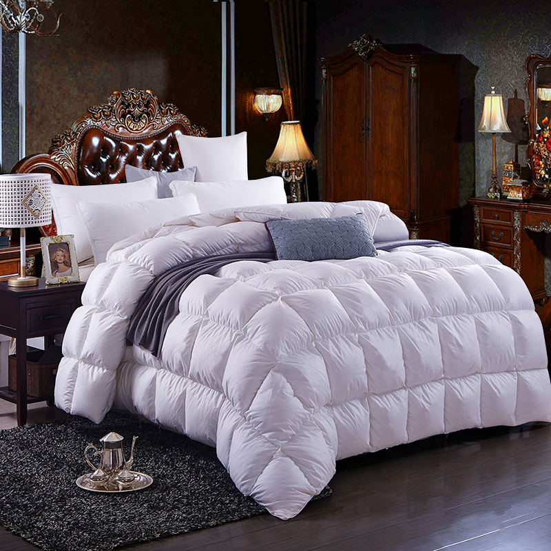 100 blanc plumes de canard bien au chaud duvet de canard couette couette livraison gratuite. Black Bedroom Furniture Sets. Home Design Ideas