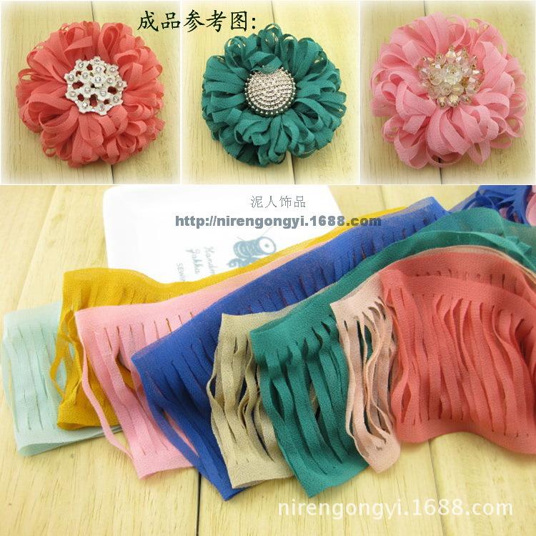 Cotton Webbing Top Fashion Nylon Webbing New 2015 ] Diy Handmade Ribbon Chiffon Organ Hair Accessories Bow Materials Wholesale(China (Mainland))