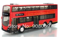 In Stock Lowest  Price Sale 1:50 Mini Metal Car  Model  Toys Car London Bus Toys For Children  Sound With Flashing Can Open Door