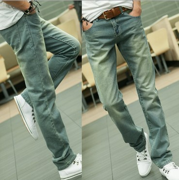 2013 New Hot Men's Jeans Fashion Cotton High Quality Trousers All Size Brand Straight jeans Free shipping 6(China (Mainland))