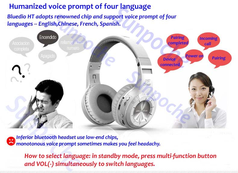 Good Consumer Electronics HT Wireless Bluetooth 4 1 Stereo Headset Bass Audio HD Earphone Handsfree Earphones