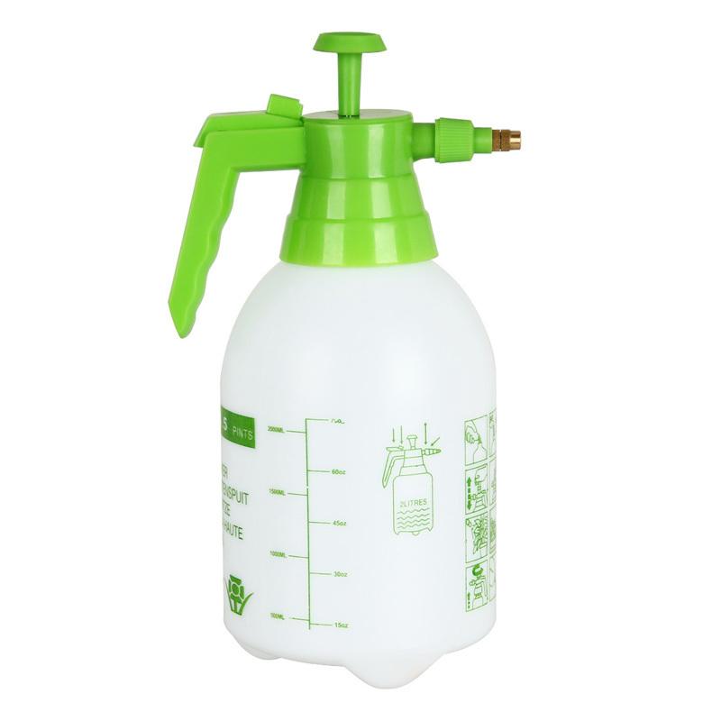 2LWhite PVC Plastic Watering Can Big Capacity Trigger spray bottle pulverisateur de jardin flower pot watering Portable Pressure(China (Mainland))