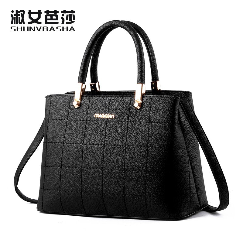 SNBS 100% Genuine leather Women handbags 2016 New wave of female bag Messenger shoulder handbag classic atmosphere(China (Mainland))