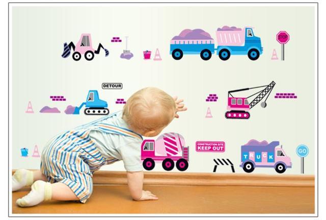 Дети дети комната комикс 3d автомобиль стена наклейка стена декор детская дети в комната росписи декора стена наклейки 7096