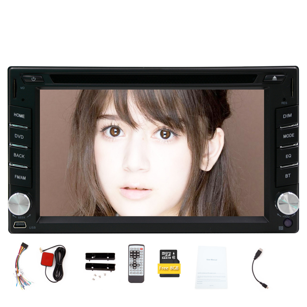 Double 2 DIN 6.2 inch In Dash Car DVD GPS Player Navigation Headunit car stereo Audio video deck 2 din Bluetooth Free MAP Card(China (Mainland))