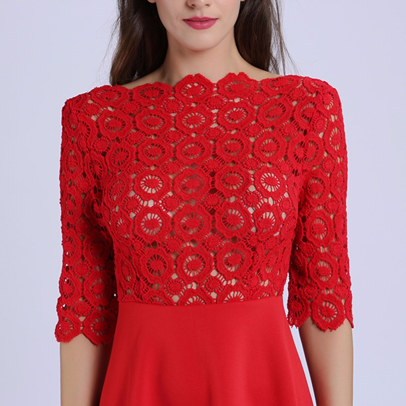 red lace dress 8